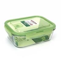 ASVEL 玻璃保鲜盒 绿 PP +玻璃 1.1L