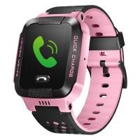 小天才 电话手表Y03 快充版 粉黑 儿童智能手表360度安全防护防水 学生定位通话手机