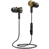 魔声(Monster)Clarity Wireless 灵晰 无线蓝牙耳机 入耳式音乐耳机 线控带咪 黑金色(137034)