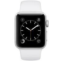 苹果(Apple)Apple Watch Sport Series 2智能手表(38毫米银色铝金属表壳搭配白色运动型表带 MNPJ2CH/A)
