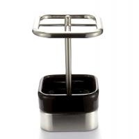 INTER DESIGN Gia系列牙刷架 咖啡色 陶瓷/铁素体不锈钢/锌