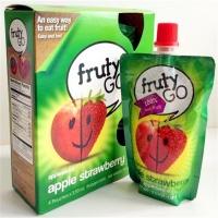 富乐果(Fruty go)苹果草莓泥 100g*4袋/盒 智利进口