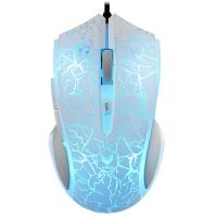 雷柏(Rapoo)V20S 白色镜面烈焰版 炫光有线游戏鼠标