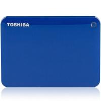 东芝(TOSHIBA)V8 CANVIO高端分享系列2.5英寸移动硬盘(USB3.0)3TB(神秘蓝)