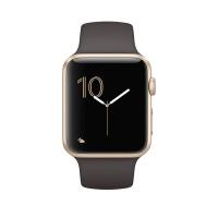 苹果(Apple)Apple Watch Series 2 42 毫米表壳 金色铝金属表壳搭配可可色运动型表带