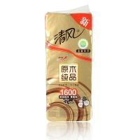 清风 原木纯品金装4层160克卷纸 160g*10卷