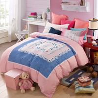 YUXIN 全棉活性时尚四件套 纯棉 床单 被套 婚庆套件 床上用品 荷兰风情