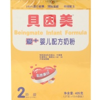 贝因美/Beingmate 金装爱+婴儿配方奶粉 2段【4-8个月婴儿】 405g