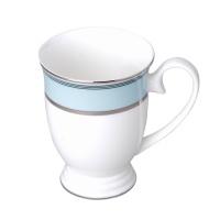 爱屋集物 英伦蓝马克杯 蓝 300ml 骨瓷