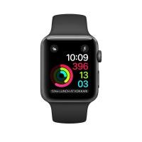 苹果(Apple)Apple Watch Series 2 42毫米表壳 深空灰色铝金属表壳搭配黑色运动型表带