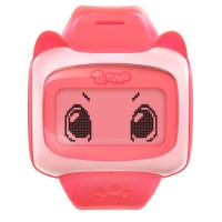 糖猫(teemo) E1 儿童电话手表 好友版儿童智能手表GPS定位 石榴红
