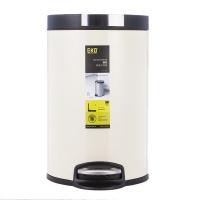 EKO 静赏8L圆形脚踏静音环境桶9225CR-8L 米色 8L 不锈钢(1Cr17)/塑料内桶(PE)
