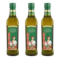 莱瑞 特级初榨橄榄油 500mlx3瓶 西班牙进口