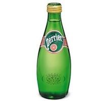 巴黎水 Perrier天然含气矿泉水 西柚味 330ml/瓶 法国进口