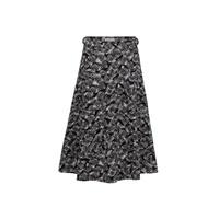 People Tree 纯棉有机棉花Lulu 黑色海苔印花裙 短裙 黑08 P553UR.BK1.08