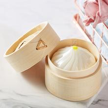 上海礼物 小笼包手工皂 竹制笼屉外盒 6.3*6.3*4.1cm