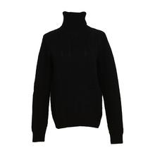 雪绒华 女式高领麻花羊绒衫 1809D 黑色 90cm
