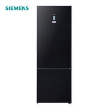 西门子(SIEMENS)KG56NSB40C 480升 欧洲原装进口变频风冷无霜双门冰箱 (黑色) 零度生物保鲜 玻璃门