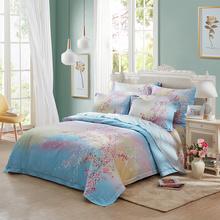 罗莱家纺(LUOLAI) 樱色满天 全棉四件套 WA5105-4 粉色 1米8床适用