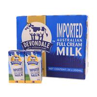 德运 全脂牛奶 200ml*24/箱 澳大利亚进口