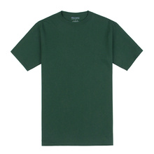 Champion 冠军  经典男女同款袖口logo短袖T恤休闲情侣装 T425 深绿色 L