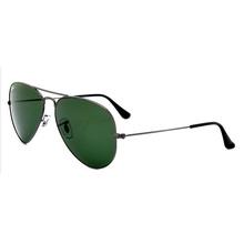 雷朋 RayBan 太阳眼镜男女款飞行员经典墨镜RB3025 004 枪色镜框绿色镜片