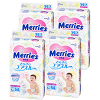 花王 妙而舒Merries 纸尿裤 箱装 L54片*4包 9-14kg 日本进口