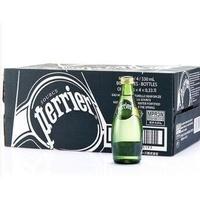 巴黎水(Perrier)天然有气矿泉水(原味)气泡水 330ml*24瓶/箱 法国进口