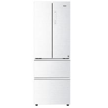 海尔(Haier)BCD-342WDGY 342升 变频风冷无霜多门冰箱 云沙白 钢化玻璃面板