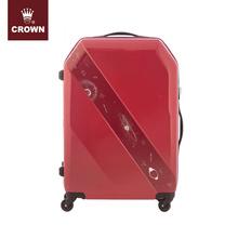 皇冠箱包crown 万向轮立体斜纹延展旅行箱5136 红色 25寸