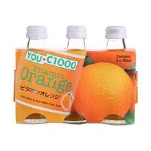 YOU.C1000 有汽橙汁饮料 3*140ml