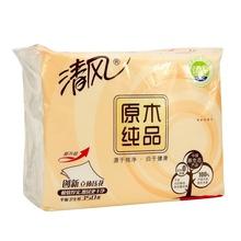 清风 原木单包平板生活用纸 350张 卫生纸 厕纸 平板纸
