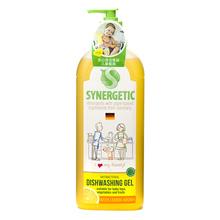 森力佳 synergetic 进口环保洗洁精 德国技术 柠檬香餐具净 大瓶装 浓缩洗涤灵洗碗液洗涤剂 1L 植物萃取 进口品质