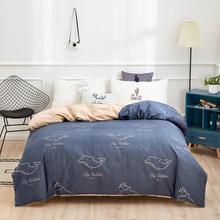 普拉达 被套家纺 斜纹印花双人全棉被套 床被罩单件 小海豚AB版 200*230cm