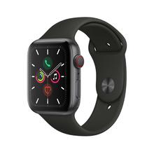 Apple Watch Series 5智能手表(GPS+蜂窝款 44毫米深空灰色铝金属表壳 黑色运动型表带 )MWWE2CH/A