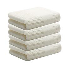 三利 大毛巾柔软加厚棉面巾 4条装 白色