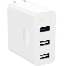 华为(HUAWEI)多口充电器 三口输出 支持SuperCharge快速充电 白色 适用于华为P20/Mate20/P10/荣耀系列等