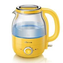 小熊(Bear) ZDH-A12R2 1.2升 电水壶 迷你烧水壶 冲奶 304不锈钢 高硼硅玻璃 多段保温蓝光电热水壶