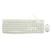 罗技(Logitech)MK120 白色 USB有线键鼠套装