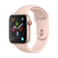 Apple Watch Series 4 GPS+蜂窝网络款 44毫米金色铝金属表壳 粉砂色运动型表带智能手表 MTVW2CH/A