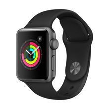 Apple Watch Series 3 GPS款 38mm 深空灰色铝金属表壳搭配黑色运动型表带智能手表 MTF02CH/A