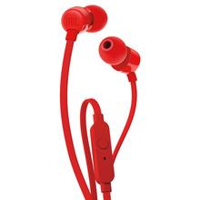 JBL T110 入耳式耳机 手机耳机 音乐耳机 游戏耳机 带麦可通话 活力红