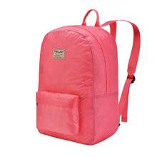 伯希和 户外皮肤包男女大容量运动双肩背包便携徒步旅行书包 16802503 水红色 均码42*28*15cm