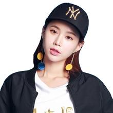 MLB 棒球帽NY洋基队 经典黑色金标男女款透气休闲嘻哈帽子 32CPIG741-50L 黑色 均码可调节 F