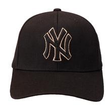 MLB 新款棒球帽 NY洋基队男女款休闲遮阳 刺绣黑色金边嘻哈帽子 32CP85711-50Q 黑色 均码可调节 F