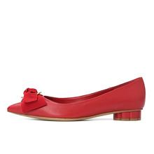 菲拉格慕 Ferragamo 牡丹花瓣造型蝴蝶结 低跟鞋 01N263 215F0493350 女款
