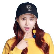 MLB 新款男女通用棒球帽 户外遮阳帽鸭舌帽 32CP85541-50Q 黑色金标 均码可调节 F