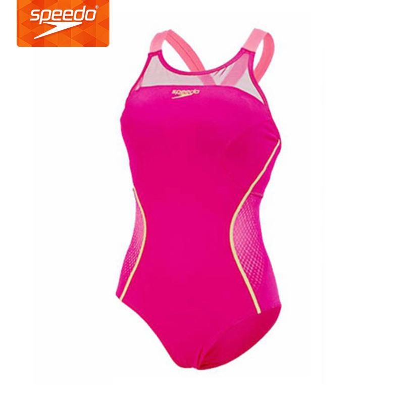 速比涛 Speedo 女士连体三角泳衣专业竞技泳衣 610206 浅桃红31-38