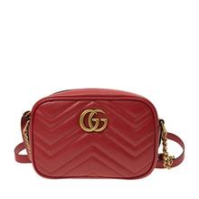 GUCCI 古驰 女士红色小号绗缝肩背包 447632-DTD1T-6433