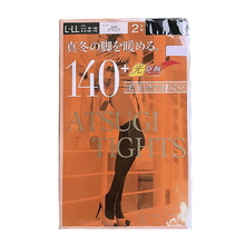 厚木 ATSUGI TIGHTS 发热袜子连裤袜140D 黑色L-LL 2双/包 日本原装进口